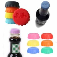 Silicone Beer Caps Drinkware Lid Reusable Wine Bottle Lids Cap Cover Saver for Kitchen Barware 6pcs set HHD6564