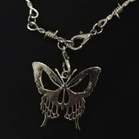 Pendant Necklaces Retro Thorn Butterfly Ghost Face Gothic Hip Hop Chain Pre Christmas Nightmare Gift Men's And Women's Jewelry