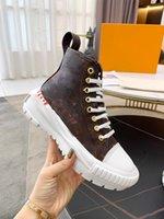 2021 Женщины Роскошные Дизайнеры Дизайн Кроссовки Сапоги Леди Высокая Верхняя Коренастая Повседневная Обувь Размер США 5-9