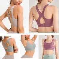 Womens lulu yoga sutiã back fileira fivela treinamento cross beleza plástico esportes underwear mulheres coletam fitness