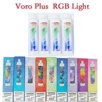 Voro Plus Recargable Vape Vape Pen E Dispositivo de cigarrillo con la batería de 650mAh de la luz RGB de 4,8 ml de 4,8 ml Preumente 3300 Puffs Brillante