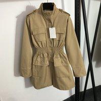 High Street Women Trench Пальто Открытый Личность Очарование Леди Куртки День Рождения Подарок для Девочек Роскошный Пальто