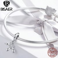 BISAER 925 Sterling Silver Balloon Dog Tools Charms Puppet Dog Beads fit Bracelet Beads for Silver 925 Jewelry Making 716 T2