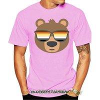Men's T-Shirts Mens Gay Bear Wearing Lgbtq Flag Sunglasses T Shirt Fashion T-shirt Brand High Quality Printed