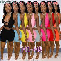 Donne Tracksuits Due pezzi Set Set Designer Uniforms Casual Slim Sexy Letters Stampato Colore Cuciture Plus Size Sportwear Autbiti 62 stili