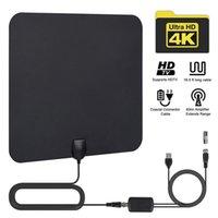 ATSC DVB T2 HDTV Антенна для телевизора 1080P 50 миль Крытый цифровой DTV Antennas Easy Установка Antenena и TVS 720P Высокая приема усиливается