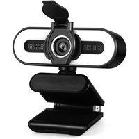 Auto Focus WEBCAM HD Caméra avec Fill Light RotaTable WEB WEB Micro-in Intégré Microphone intégré Computer Smart Accueil Cam Mini Caméras