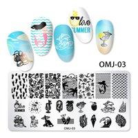 12 * 6cm 스테인리스 네일 아트 템플릿 스탬핑 플레이트 디자인 꽃 동물 유리 스탬프 매니큐어 도구 액세서리 NAP001