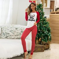 Pantalon de deux pièces Femme Christmas O Cold T-shirt Coton T-shirt Home Vêtements Association Set Automne Confortable Slim Cuissons CN (Origine)