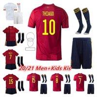 Kids 2021 إسبانيا لكرة القدم جيرسي راموس ثيايجو 20 21 فريق وطني دييغو كوستا رودري أطفال كرة القدم Camisetas de Fútbo