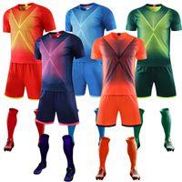 2020 Yeni Çocuk Erkekler Futbol Formaları Set Erkek Kısa Kollu Futbol Eğitim Takım Futbol Forması Seti Spor Üniformaları DIY Baskı