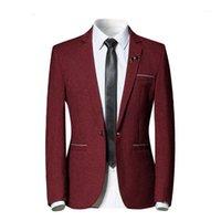 Yffushi nueva moda hombres traje chaqueta marina roja blanco jacquard chaqueta de lujo masculino estilo casual slim fit bandeja mejor hombre