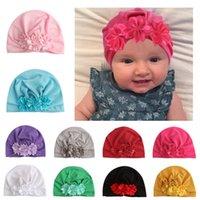 Baby Hüte Mützen mit Knoten Donut Decor Kids Kleinkind Haarschmuck Turban Head Wraps Mädchen Kinder Winter Frühling Beanie x-19055