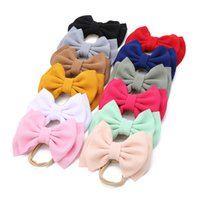 12-color party baby bow hair band girl elastic seamless nylon jewelry