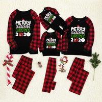 2020 새로운 부모 - 자식 고품질 크리스마스 유럽 및 미국 크리스마스 인쇄 부모 - 자식 잠옷 세트