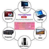 Механическая игровая клавиатура 87 ключевой проводной красный переключатель RGB Backlight Anti-Ghosting для компьютерных компьютерных компьютерных компаний
