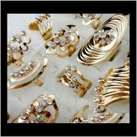 Drop Доставка 2021 Стиль Стиль Сплава Золота Позолоченная полоса Регулируемое Кольцо Toe Для Женщин Мужчины Оптовые Ювелирные Изделия Кольца Лота PS1673 1N8AL