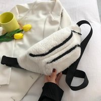 Waist Bags Women Plush Chest Bag Solid Color Belt Shoulder Crossbody Brand Designer Female Fanny Pack Banana Hip Purse
