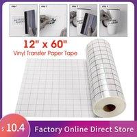 Adesivi per finestre 12 x 60 pollici di trasferimento nastro di carta rotolo cricut adesivo adesivo trasparente di allineamento griglia di fissaggio del calore documenti di posizionamento del calore