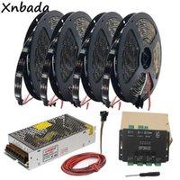 Şeritler WS2812B WS2812 RGB LED Şerit Işık Bant SP301E SYN Sinyali Programlanabilir Piksel Denetleyici DC5V Trafo Kiti