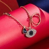 Le même Shijia Swan incrusté par le collier et la chaîne de la clavicule de Swarovski Crystal Devil