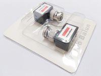 Yüksek kaliteli UTP adaptörü, 90 derece açılı kamera CCTV BNC video Balun alıcı-verici konnektör / 10 çift