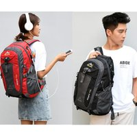 Backpack 40L Unisex Waterproof Men Travel Pack Sports Bag Outdoor Mountaineering Hiking Climbing Camping For Male