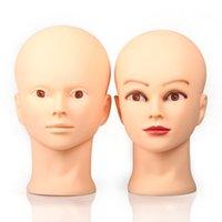 20 inç ballı manken kafa peruk için manken bebek kadın ekran kozmetoloji mankenler şapka kuaförlük saç stilleri yüz masaj