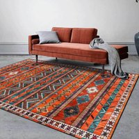 Carpets Living Room Carpet Retro Geometric Pattern Floor Mats Ethnic Style Home Decoration Pad Fashion Bathroom Non Slip Rug Rugs