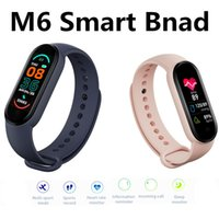 M6 Smart Bracelet Heath Band 6 Heart Rate Blood Preassure Wr...