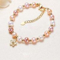 Bangle Plum Blossom Ethnic Style Natural Pearl Bracelet Women Bracelets Jewelry