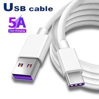 Hastighet 5A USB-kablar Snabb laddare Mikro Typ C laddningskabel 1m 2m 3m