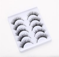 False Eyelashes 5 Pairs Of 3D Three-dimensional Naturally Thicker And Longer Darker At The End Eyes