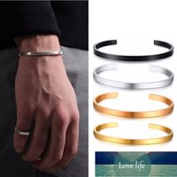 4MM Bangle CUFF STAINLESS STEEL LOVE BRACELET MALE JEWELRY For men's gift wedding Factory price expert design Quality Latest Style Original Status 1 pcs fast sending