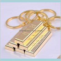 مجوهرات الذهب الخالص سلسلة الذهب الذهبي المفاتيح أقراط النساء حقيبة سحر قلادة المعادن مكتشف الفاخرة رجل سيارة حلقات مفتاح التبعي drop de