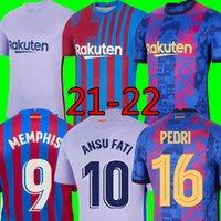 21 22 22 Барселона Футбол Джерси Мемфис Барса Top Camiseta de Futbol Kun Aguero Umtiti 2021 2022 Ansu Fati Coutinho F.de Jong Футбольная футболка Kit Men Kits Kits Maillot