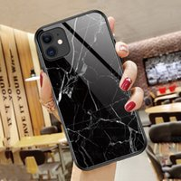 Luxury Marble Design Tempering Glass Phone Cases For iPhone 11 Pro Max 12pro 13pro 8 7 6s Xr Xs X Samsung Galaxy S20 Plus S21 Note20 Ultra S9 Rugged 9D Scratchproof Cover