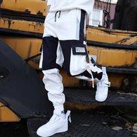 Neenbo Multi Pocket Грузовые брюки Мужчины Брюки Трек Брюки Брюки Джорджеры Уличная одежда Хип-хоп Случайные Мужчины Хараджуку Мужчины Брюки Летняя Мода