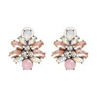 Earrings Luxury Crystal Flower Fashion Women Vintage Statement Stud Earrings Jewelry Wholesale
