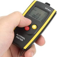 Alkohol-Atem-Tester, HT-611 Tester High Resolution LCD-Display Berührungslos Contact Concontle Atmallymer Alkoholismus-Test
