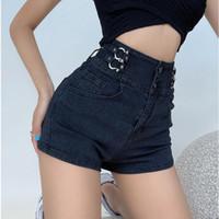 Damen Shorts Womengaga Spice Girl Metal Schnalle Denim Frauen Sommer Hohe Taille Dünne dünne Hüfte Mini Kurzkoreanisch R4ly