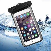 Étuis en plein air PVC Sac imperméable à l'étanche Sport Sport Pell-téléphones portables Universal Téléphone cellulaire pour téléphone mobile intelligent 4.7inch 5.5inch
