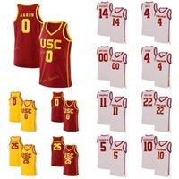 NCAA College USC Trojans Jersey 5 Derryck Thornton Nikola Vucevic 10 Derozan 1 Jovem costume costurado