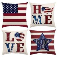 4 Temmuz Süslemeleri Yastık Kılıfı 18x18 Bağımsızlık Günü Amerikan Bayrağı Yıldız Ve Çizgili Vatansever Atmak Yastıklar Kapak ABD Özgürlük Ev Dekor H4496
