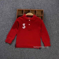 Baby Boys T-Shirt Classic Spring Autumn Brand Children Embroidery Horse Shirt Blouse Kids Long Sleeve Tops
