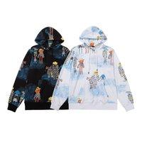 2021 Hoodie 남자 패션 브랜드 봄과 가을 어린이 재미 낙서 인쇄 라운드 넥 코트 캐주얼 커플웨어