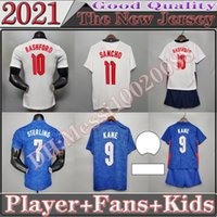 스털링 축구 유니폼 2021 Kane Rashford Sancho Henderson Barkley Maguire 21 22 축구 셔츠 남성 팬 플레이어 버전 키트 키트