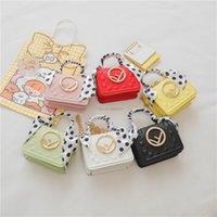 Luxus Mädchen Silk Schals Handtasche Designer Kinder Brief Metall Schnallen Taschen Kinder Prägen Eine Umhängetasche Lady Mini Purese A6797