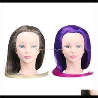 Kafalar 2 Renk Dayanıklı Sentetik Saç Örgü Ağartma Boyama Manken Başkanı Xym0h Hwkzi