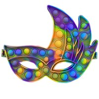 Party Mask Fidget Toy Rainbow Masquerade Mask Party Balls Fancy Dress Masks Blindfold facemask Halloween Christmas Prom